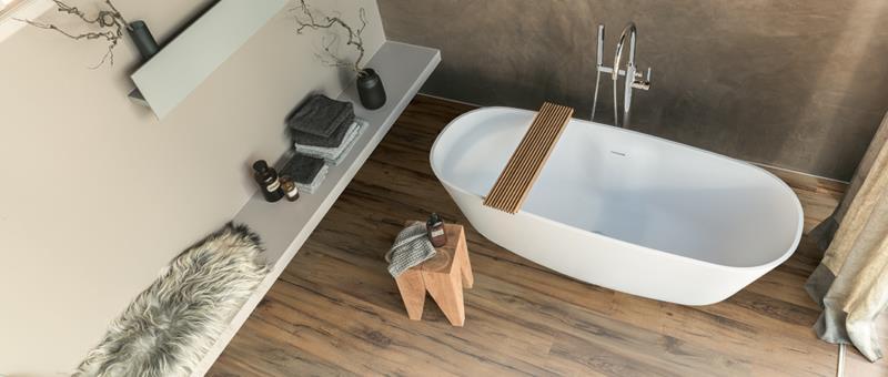 Amenajare baie cu Pardoseala Egger Aqua+