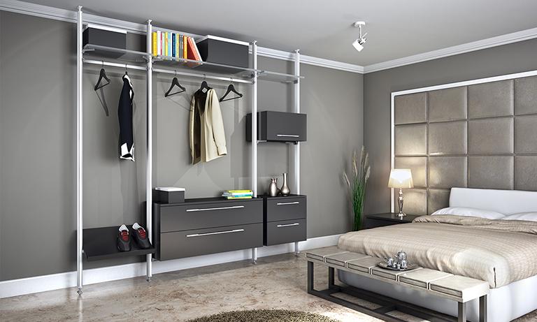 Amenajare dormitor cu produse marca Emuca