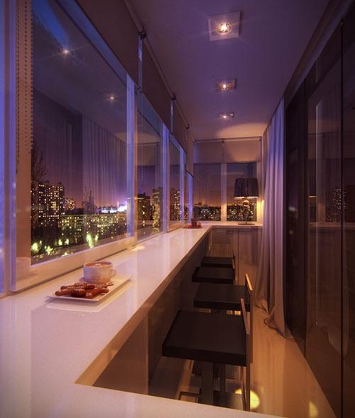 Balconul tip bar