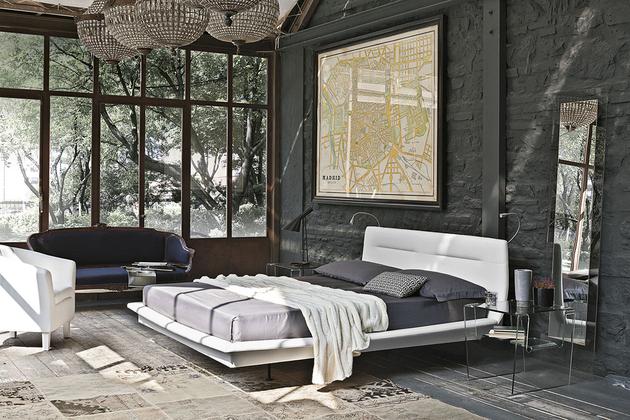 Pozitionare pat intr-un dormitor spatios