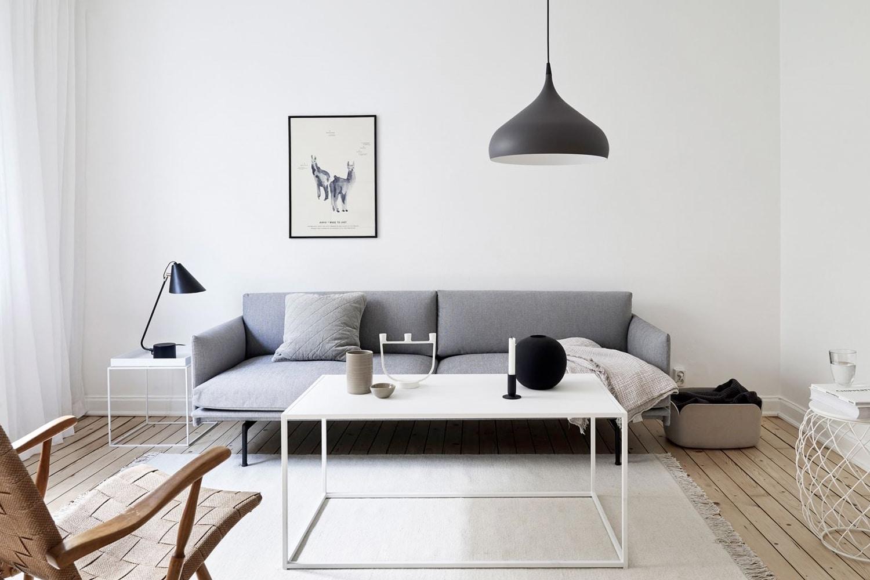 Sugestie amenajare living in stil minimalist
