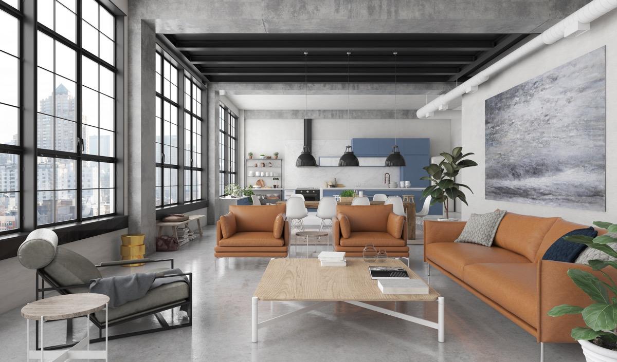 Sugestie amenajare interioara in stilul industrial