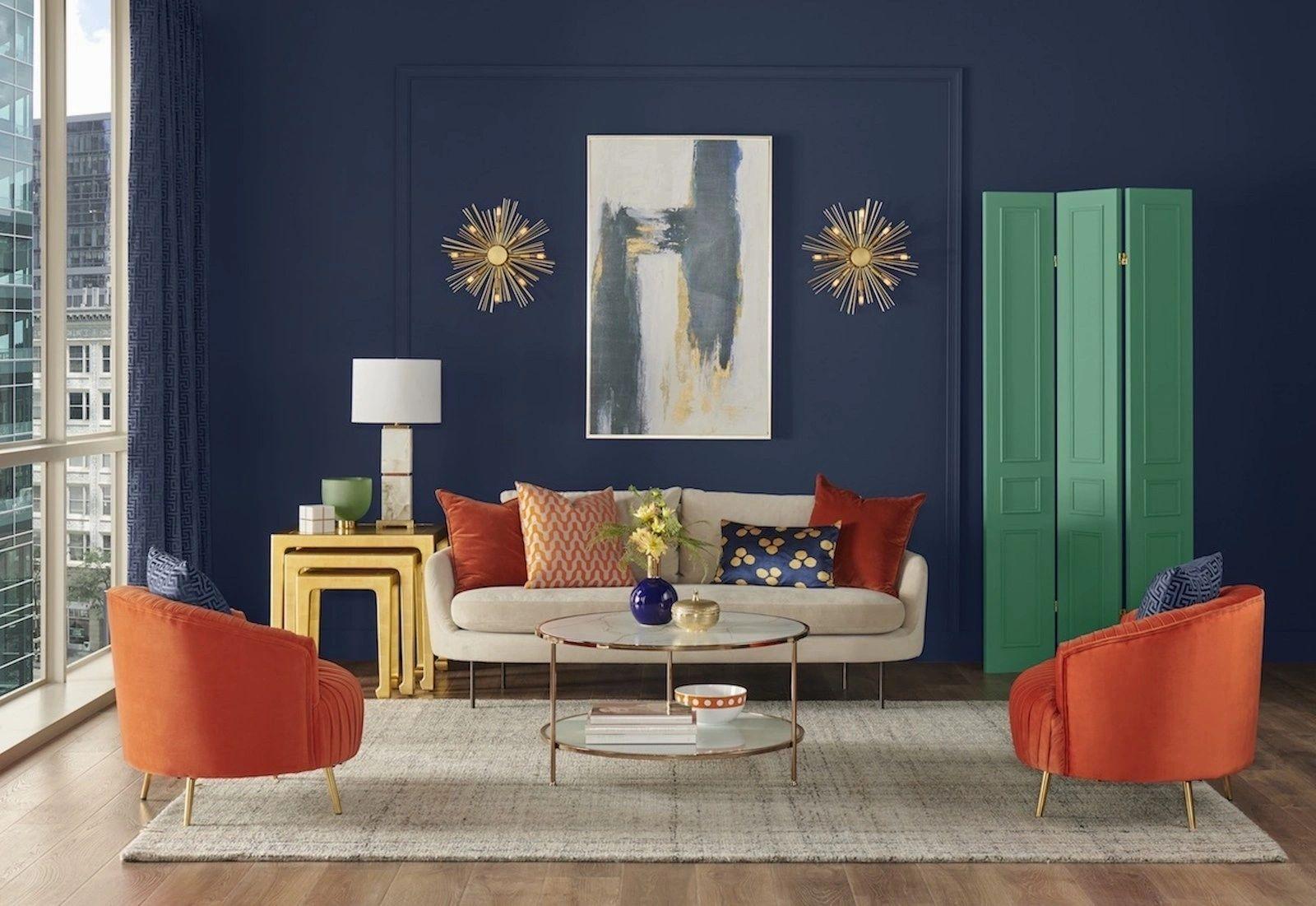 Culoarea albastru naval in design-ul interior